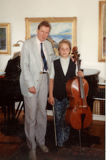 In the home of the legendary Scandinavian cellist, my first former cello teacher, Erling Blöndal Bengtsson. He was accepted by Gregor Piatigorsky as a student at the Curtis Institute of Music at the age of sixteen, his first assistant and also teacher at Curtis. 'Steve Kramer, whom I had the utmost pleasure teaching from within my home in Brønshøj, possesses an absolutely natural musical feeling and sense of form. His instrumental endowment is so convincing that he is a true cello talent.' – Erling Blondal Bengtsson