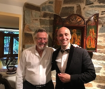 Chamber music derives partly from an old German tradition. I am passionately continuing this tradition in the United States. In the home on Lake Barcroft, Virginia in company with the honorable Dominick Cardella